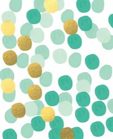 Abstract Painting Mint and gold