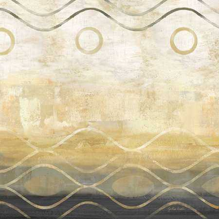 Abstract Waves Black-Gold II