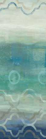 Abstract Waves Blue-Gray Panel I