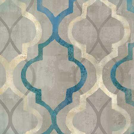 Abstract Waves Blue-Gray Tiles III