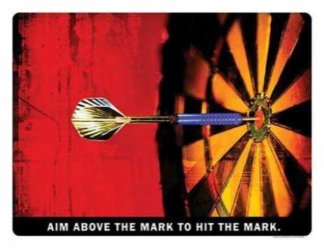AIM ABOVE THE MARK