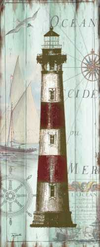 Antique La Mer Lighthouse Panel II