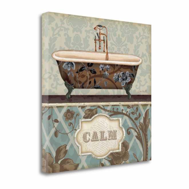Bathroom Bliss II - Gallery Wrap Canvas - 20x20