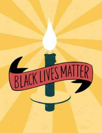 Black Lives Matter - Candle