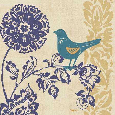 Blue Indigo Bird II