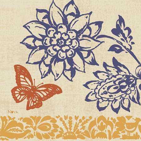 Blue Indigo Butterfly I