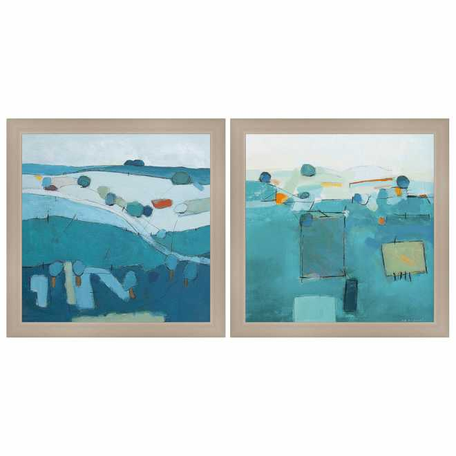 Blue Patchwork - Set of two pictures