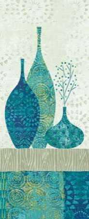 Blue Spice Stripe Panel II