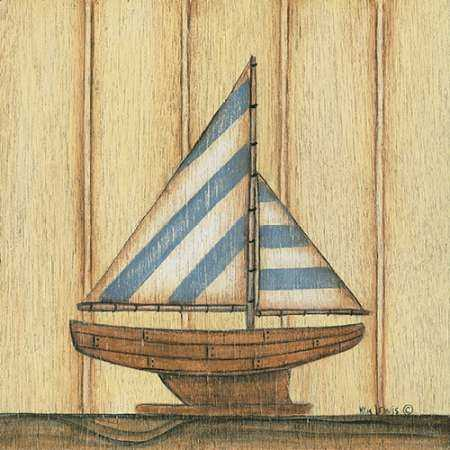 Blue Stripe Sailboat