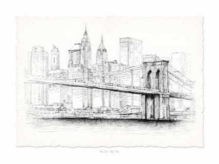 Brooklyn Bridge Pen and Ink