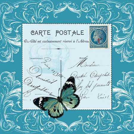 Butterfly Carte Postale Blue