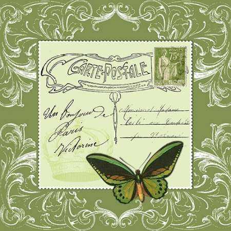 Butterfly Carte Postale Green