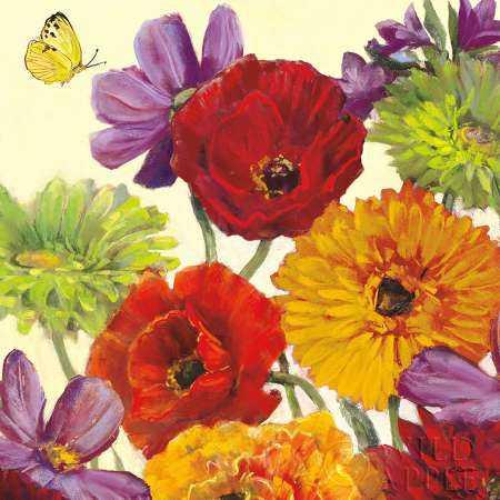 Butterfly Flower Scatter Crop III