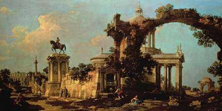 Capriccio of Roman Ruins with a Renaissance Church