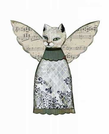 Cat Angel with Music Wings