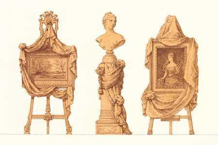 Chevalet et Piedestal Drapes