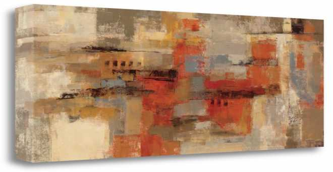 City Wall, Gallery Wrap Canvas, 15x29, SP0055