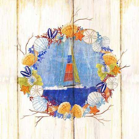 Coastal Sailboat Wreath