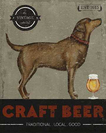 Craft Beer Dog Poster