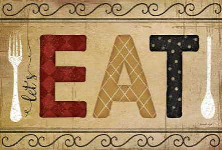 Eat, 22x15, Gallery Wrap Canvas, SBJP4757, SP0126