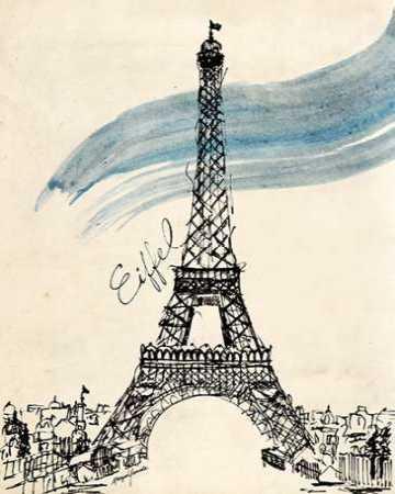 Eiffel Tower in Pen