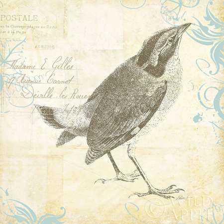 Engraved Birds I