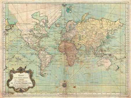 Essay d une Carte reduite du Globe Terrestre 1778