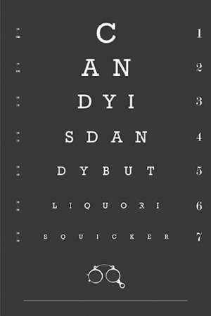 Eye Chart Candy