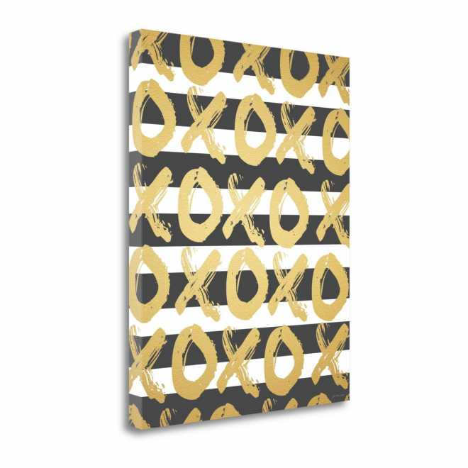Faux Gold XOXO, Gallery Wrap Canvas, 16x20, SP0087