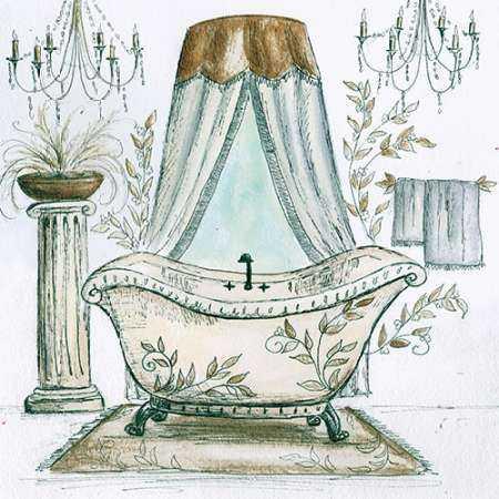 French Bath Sketch I - tub