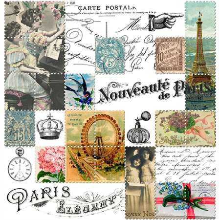 French Stamps White