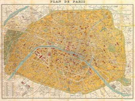 Gilded Map of Paris
