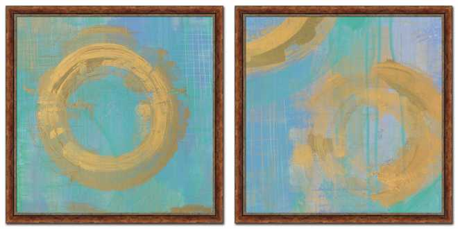 Golden Circles set of two by Melissa Averinos
