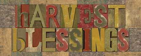Harvest Blessings Printer Block Panel