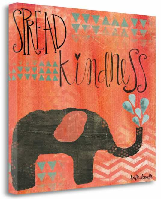 Kindness Elephant, Gallery Wrap Canvas, 26x32, SP0039