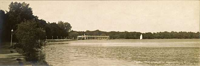Lakeshore and Pavilion at Wildwood, White Bear Lake, 1905