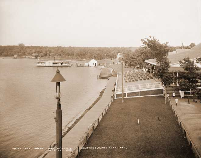 Lakeshore and Pavilion at Wildwood, White Bear Lake, 1905