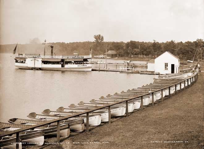 Landing at Wildwood, White Bear Lake, MN, 1906, Historical Art Photography