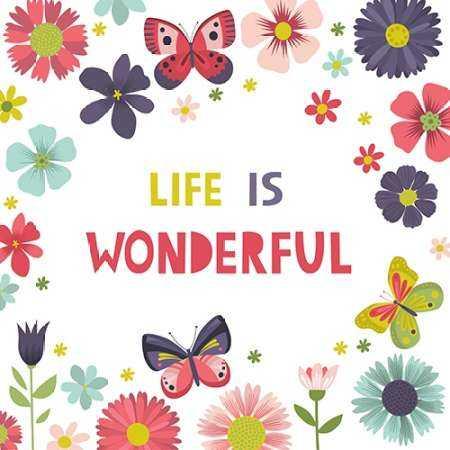 Life is Wonderful on White
