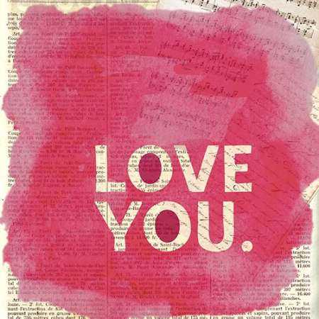 Love You Newsprint