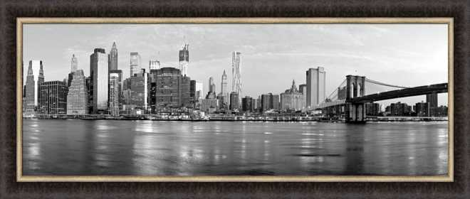 Manhattan and Brooklyn Bridge by Vadim Ratsenskiy