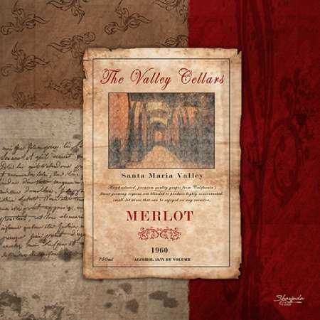 Merlot Wine Label