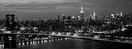 Midtown Manhattan and Williamsburg Bridge
