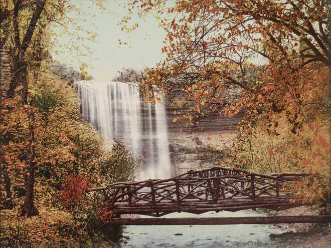 Minnehaha Falls, Minneapolis, MN, 1900, Historical Photograph