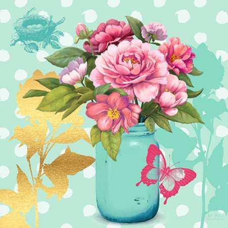 Mint Mason Jar Bouquet