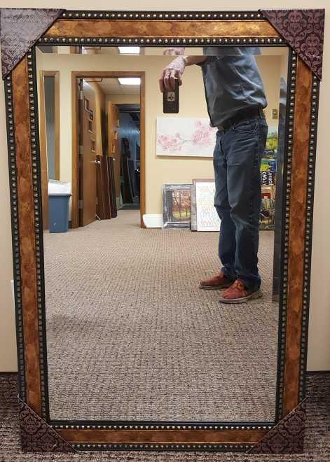 Mirror 30x42 in burlwood frame