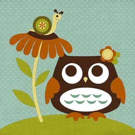 Owl Looking at Snail