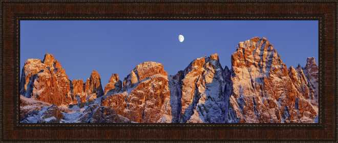 Pale di San Martino and Moon by Frank Krahmer
