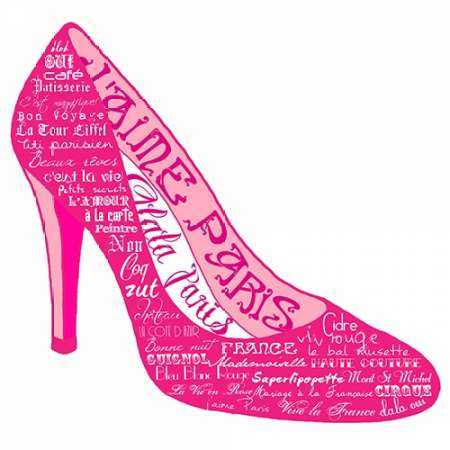 Pink Paris Shoe
