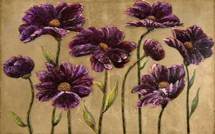 Plum Bliss Handpainted Canvas